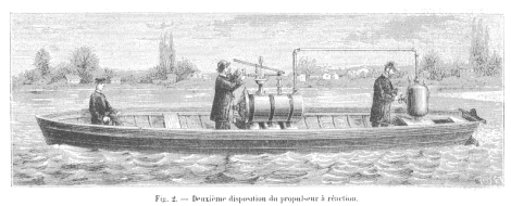 Just Buisson's sad death by exploding rocket boat, 1886