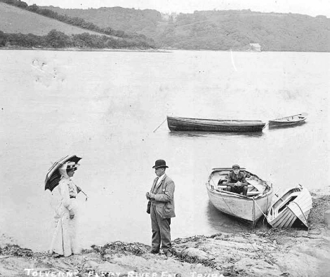 Victorian postcard taken at Tolverne on the Carrick Roads