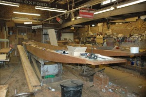 Punt builder\'s workshop, photo from the Wikimedia Commons, taken by Thruston