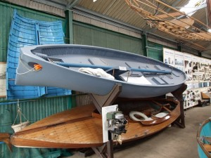Uffa Fox\'s airborne lifeboat at the Museum of the Broads