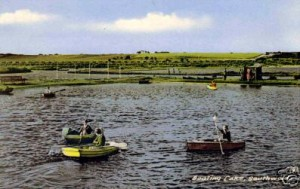 Southwold boating pond in the 1950s