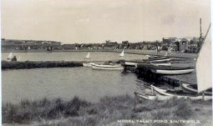 Southwold model boat and boating ponds in 1918