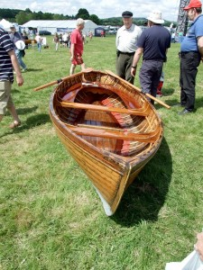Small double-ended skiff at the Beale Park Thames Boat Show