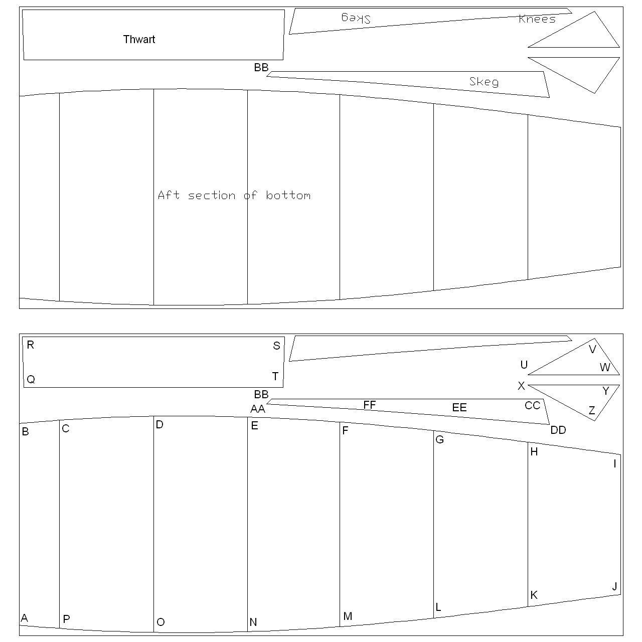 ... – drawings and coordinates for stitch and glue | intheboatshed.net