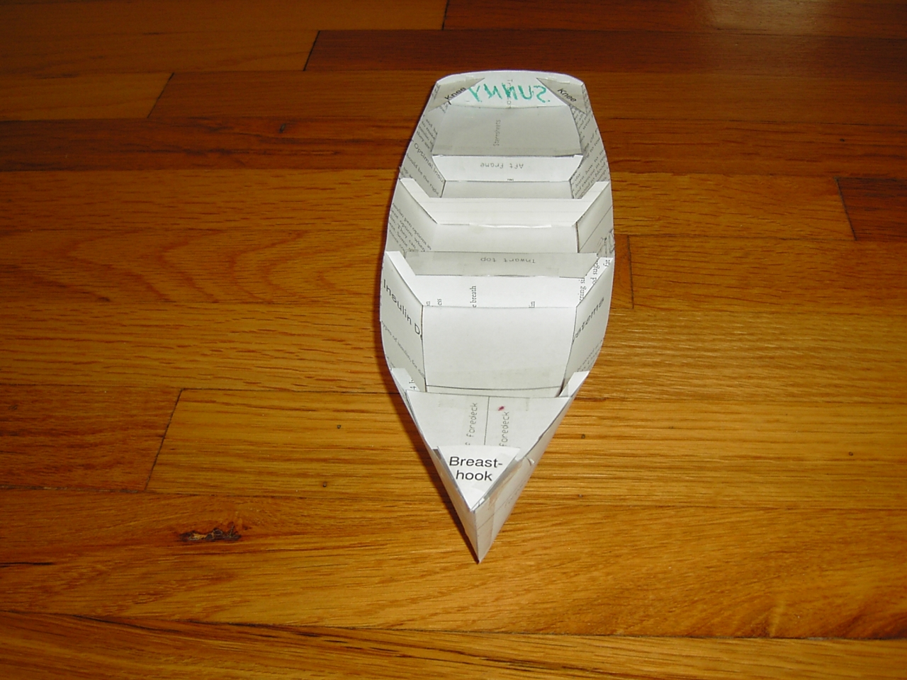 Drawings for building a model of the 14ft stitch and glue Sunny skiff | intheboatshed.net