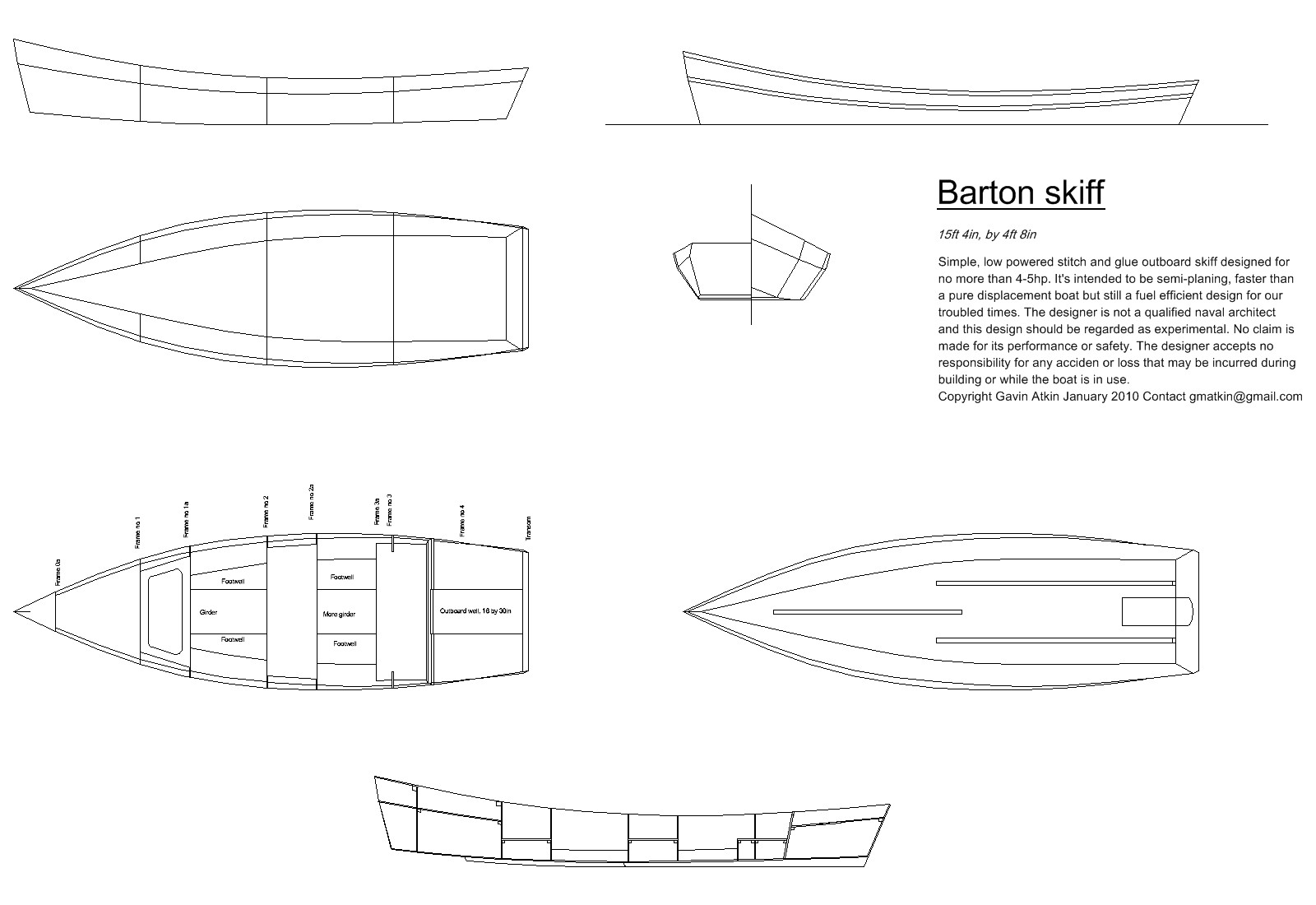At last – construction drawings for the Barton skiff ...