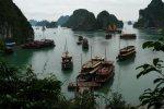 hanoi, vietnam, boats, pedlars, ferries