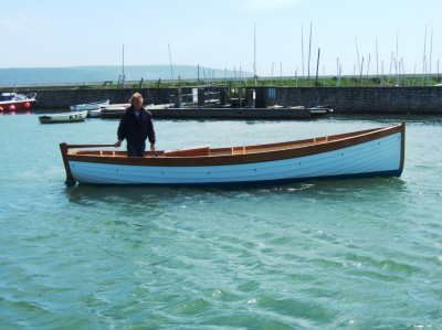 Nick Smith west country style motor launch Bamboo Viper