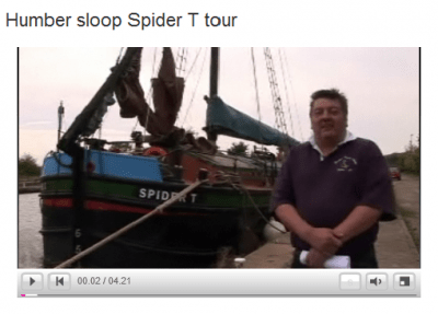 BBC film of Humber sloop Spider T