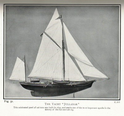 Revolutionary 19th century racing yacht Jullanar from Keble Chatterton