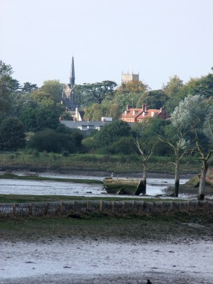 Woodbridge from along the estuary