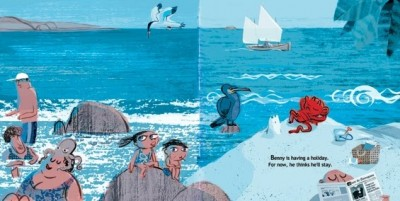 Onawind Blue in children's book illustrated by Elena Val