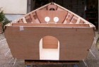 Brian King's plywood boat Barton skiff in build from free boat plans