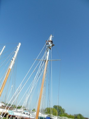 Antifouling Sunday_owner at the top of his boat's mast 2