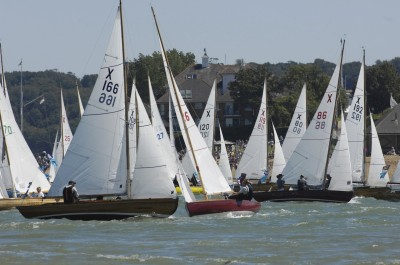 XOD-Fleet-at-Cowes-R-Tomlinson-lr Skandia Cowes Week 2007 day 1, Saturday August 4 X166 Swallow, X86 Aora
