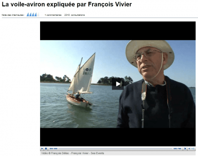 Voile-aviron sailing explained by Francois Vivier