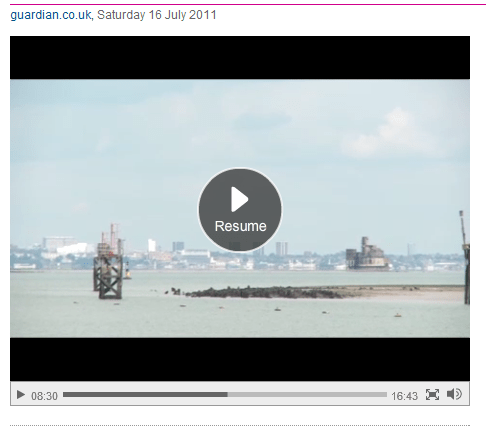 Film maker James Price on the Thames Estuary