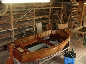 Yoma II 1961 Burnham on Sea Motor Boat Company 'Sturdy 16' built at 14ft restored by Ian Baird