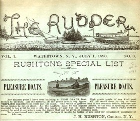 Rushton ad The Rudder magazine