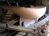 Stirling and Son Victorian Yacht Hull Planking Complete and Faired