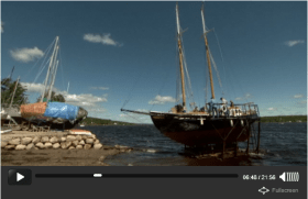 Schooner sailing and racing on the Nova Scotia coast