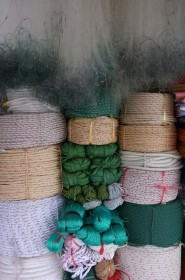 Fishing nets and ropes for sale at Da Nang photographed by Matthew Atkin