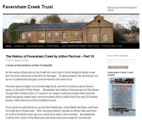 Faversham Creek Trust weblog