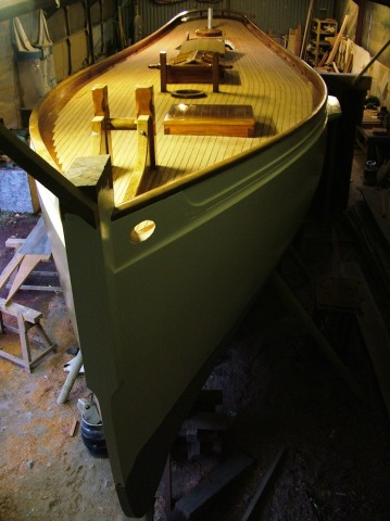Stirling and Son Victorian racing yacht Integrity Bow