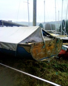 Harry Feltham 18ft clinker dinghy for sale