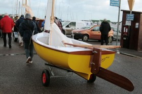 Shane Butcher's composite dinghy 2 'Dreamer' Photo - Emma Brice