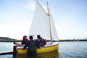 Shane Butcher's composite dinghy 'Dreamer' Photo - Jenny Steer Dec 2011