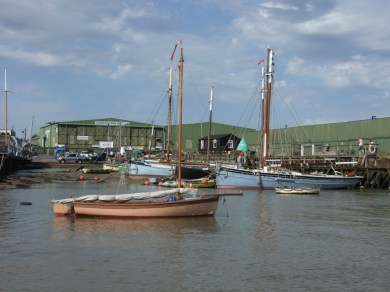 Oare Creek to the Colne and back 1 smack wharf with Jimmy Lawrence's boat