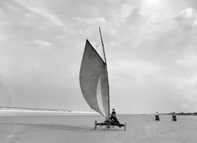 Land sailing Ormond Florida circa 1900 from Shorpy 4