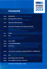 Medway and Swale Boating Association conference programme 2