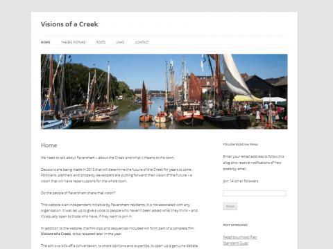 Visions of a Creek weblog