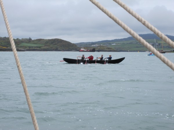 A currach - just where it should be on the West Coast of Ireland