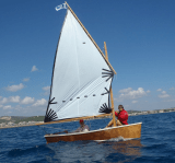 Ella skiff off the coast of Catalonia