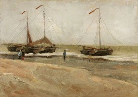 Vincent_van_Gogh_-_Beach_at_Scheveningen_in_calm_weather_(1882)