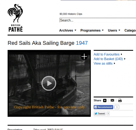 Red Sails on Pathe