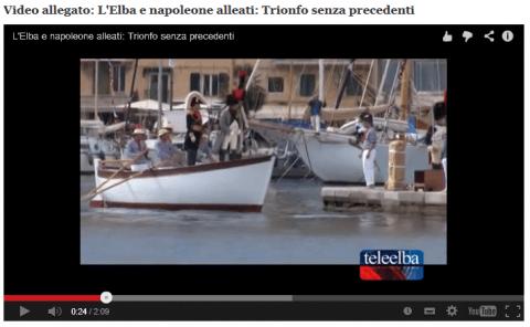 Napoleon arrives at Elba 2014