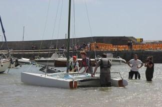 16' F16 Composite Catamaran. Photo by Liz Griffiths 100614 (135)