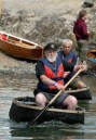 Skulling a coracle - KM