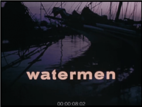 Watermen racing and fishing on the Chesapeake Bay