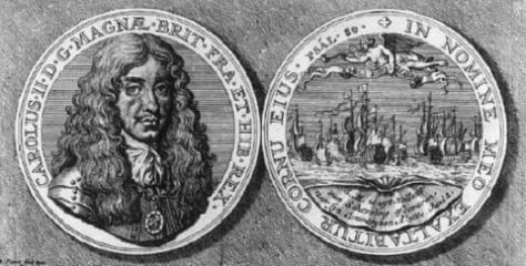 Charles II departs from Scheveningen