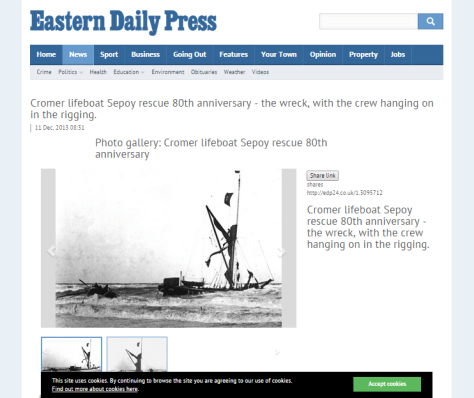 EDP story of the Sepoy lifeboat rescue