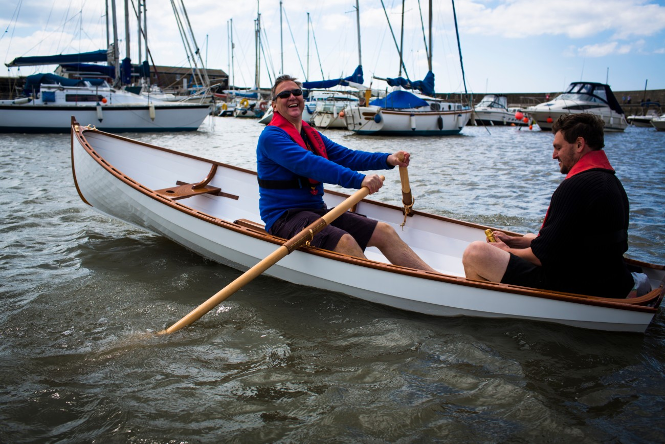 BBA students build an Iain Oughtred Acorn Skiff | intheboatshed.net