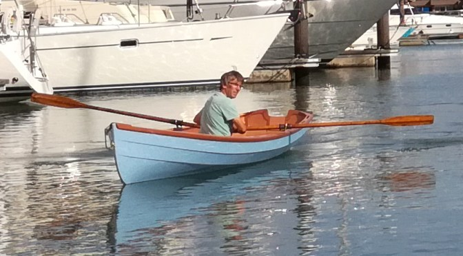 Alan Thorne launches a John Welsford Joansa rowing skiff