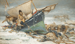 'They forged the last links with their lives'_ Sir John Franklin's men dying by their boat during the North-West Passage expedition © National Maritime Museum, London