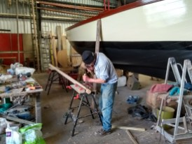 working on lugger's mizzen