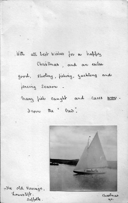 1911 Christmas card, Lowestoft P2
